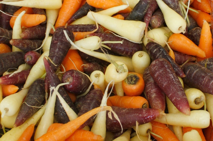 Nottinghamshire Mixed Chantenay Carrots
